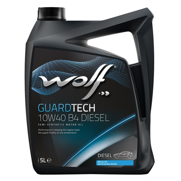 Моторное масло WOLF GUARDTECH 10W-40 B4 DIESEL, 5л