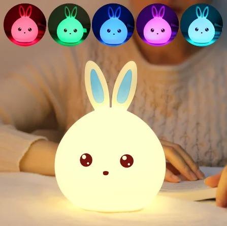 Оригинальный детский ночник Rabbit Silicone Lamp LED аккумуляторный светильник
