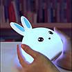 Оригинальный детский ночник Rabbit Silicone Lamp LED аккумуляторный светильник, фото 5