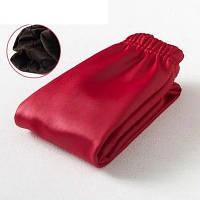 Женские кожаные зимние лосины Бордо, 150