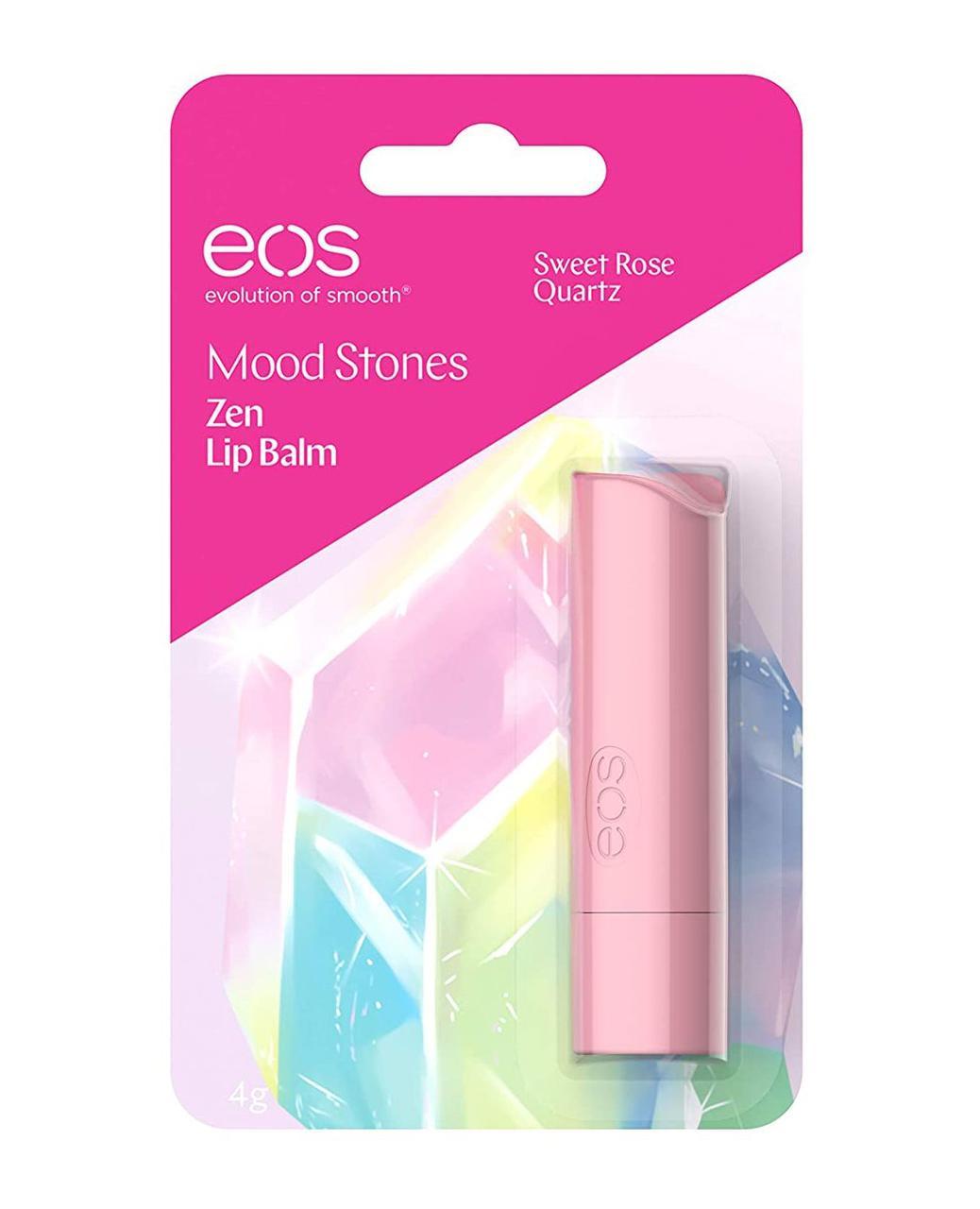 Eos Mood stones Sweet Rose Quartz Бальзам-стик для губ 4г