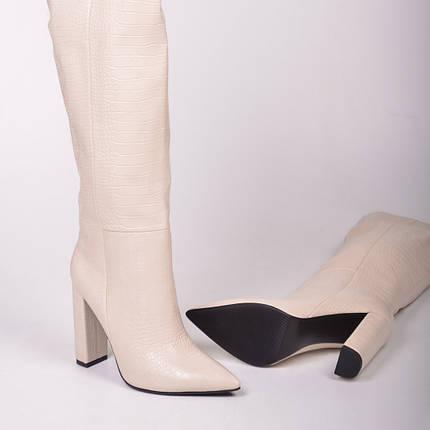 Женские сапоги казаки утепленные белые Остался 38 размер, фото 2