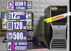 Игровой компьютер T302-5 X5647/12Gb/HDD 500Gb/SSD 120Gb/Gtx 1050Ti 4Gb, фото 2