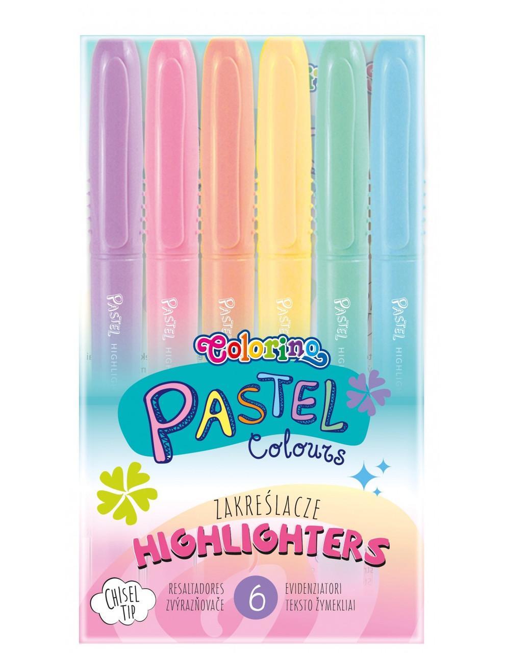 Хайлайтеры , 6 пастельных цветов, Colorino