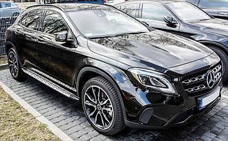 Подножки Mercedes GLA X156 пороги ступеньки площадки