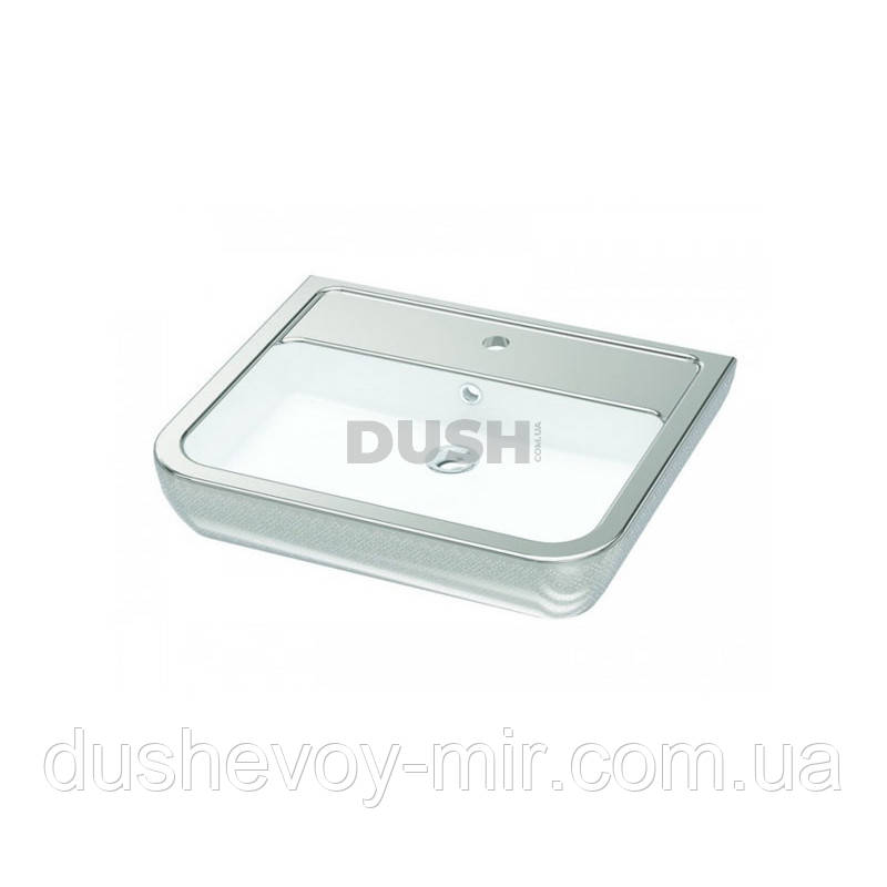 Умывальник IDEVIT Halley 60 (3201-0455-1201) декор серебро