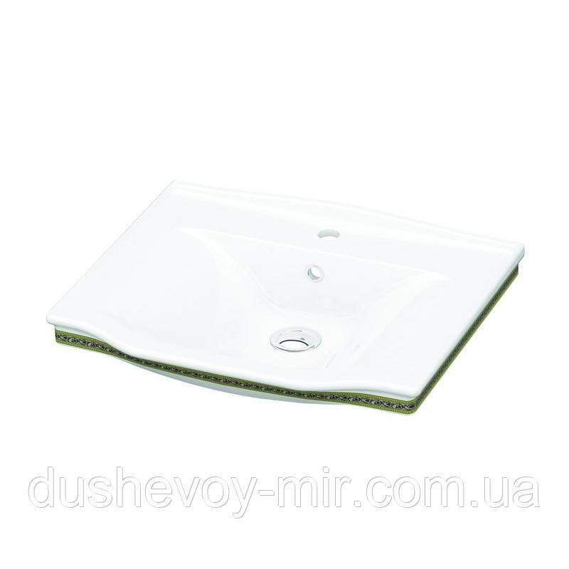 Умывальник IDEVIT Neo Classic 68 (3301-0655-0088) белый/декор золото