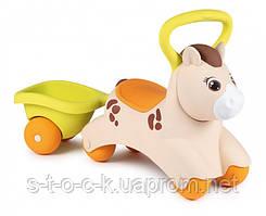 Дитяча каталка Smoby Toys Поні з причепом 70х23х43 см (721500)