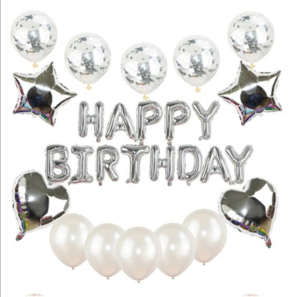 """Набор шаров на день рождения, """"HAPPY BIRTHDAY"""" 044"""