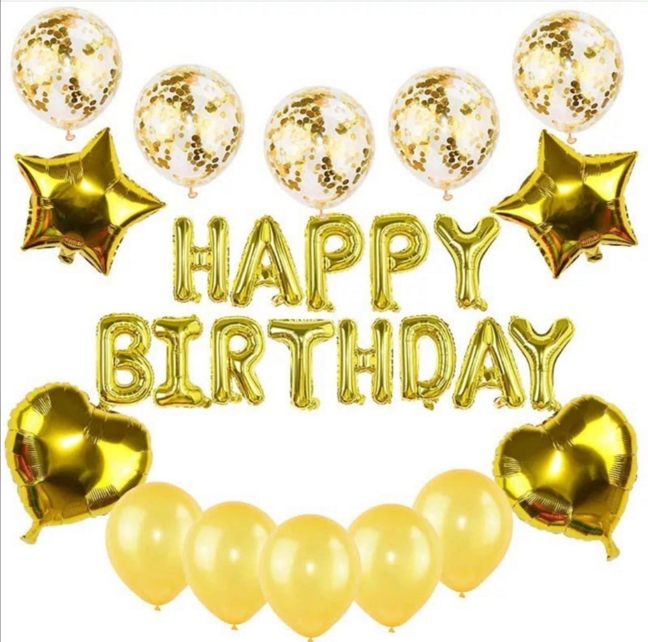 """Набор шаров на день рождения, """"HAPPY BIRTHDAY"""" 045"""