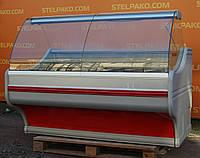 Холодильная витрина охлаждаемая «Bochnia WCh 16 Gl» 1.6 м., (Польша), широкая выкладка 80 см., Б/у, фото 1