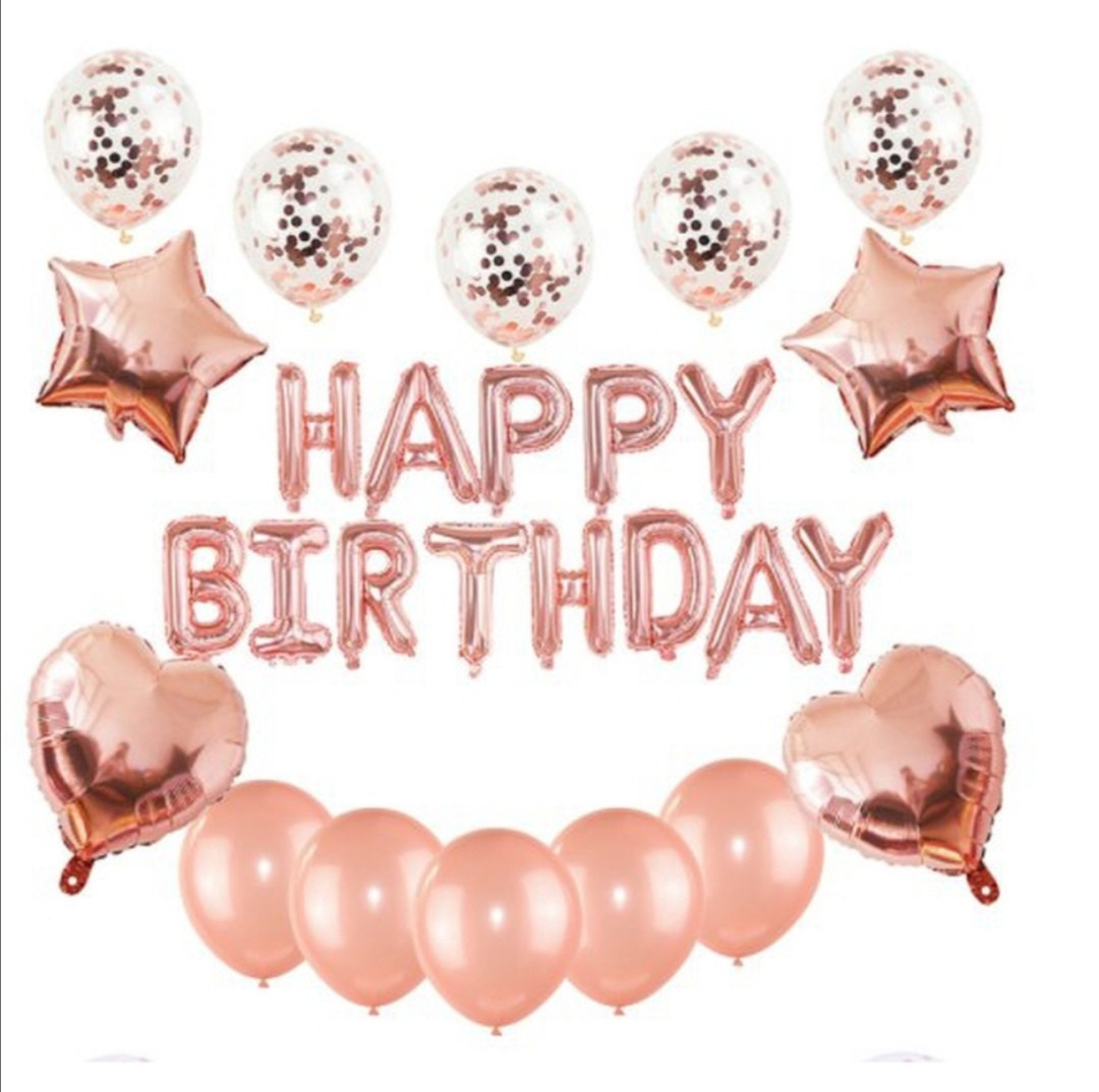 """Набор шаров на день рождения, """"HAPPY BIRTHDAY"""" 046"""