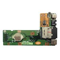 Asus K52 X52 A52 плата USB, Lan, кардрідер, роз'єм живлення, кнока включния (60-nxmdc1000-e01 69n0guc10e01-01) бо