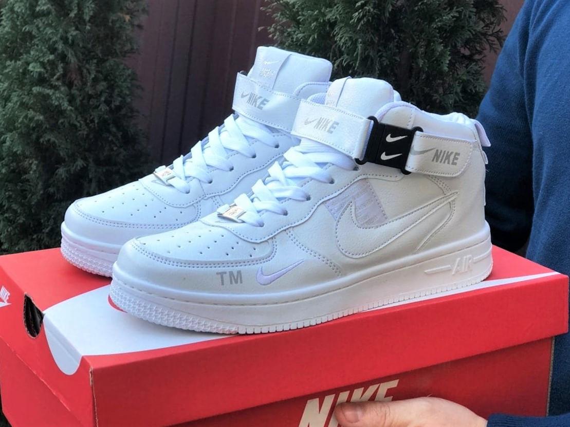Кроссовки Найк Аир Форс мужские белые демисезонные Nike Air Force білі демісезонні найк аір  форс