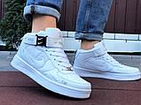 Кроссовки Найк Аир Форс мужские белые демисезонные Nike Air Force білі демісезонні найк аір  форс, фото 2