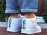 Кроссовки Найк Аир Форс мужские белые демисезонные Nike Air Force білі демісезонні найк аір  форс, фото 5