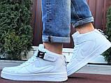 Кроссовки Найк Аир Форс мужские белые демисезонные Nike Air Force білі демісезонні найк аір  форс, фото 4