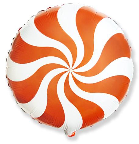 "Фол шар Flexmetal 18"" Круг Конфета оранжевая (ФМ)"