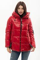 Пуховик Tongcoi 7085 красного цвета M, фото 1