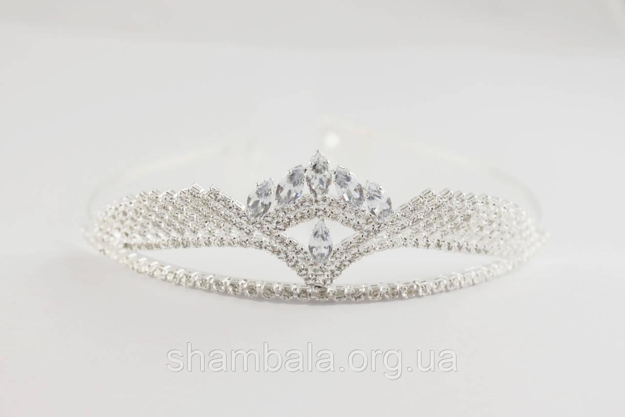 Діадема Diadema на обручі Срібляста (081656)