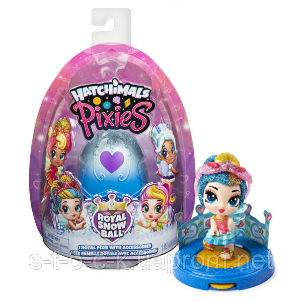 Куклы Hatchimals Royal Snow Ball 6047278 Хэтчималс коллекционная фигурка Пикси