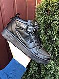 Кроссовки Найк Аир Форс мужские черные демисезонные Nike Air Force чорні демісезонні найк аір форс, фото 3