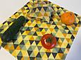 Многоразовая обертка салфетка для продуктов, вощені серветки, екопакування, фото 2