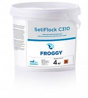 Химия для бассейнов SetiFlock C310 4кг. (на основе сульфата алюминия, для очистки и осветления мутной воды)