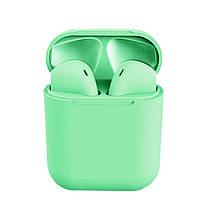 Беспроводные сенсорные наушники i12 TWS Pods Green