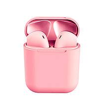 Бездротові сенсорні навушники i12 TWS Pods Pink gloss