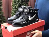 Чоловічі демісезонні кросівки Nike Air Force,білі з чорним, фото 3