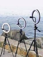 Кольцевая лампа 30см со штативом 2 метра и креплением для телефона (лампа с LED подсветкой)