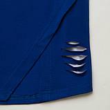 Летний комплект для девочки р.128,134 SmileTime футболка и капри Lovely, синий с белым, фото 4