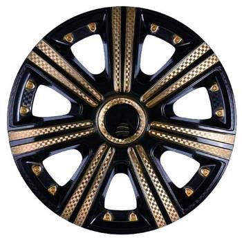 """Колпаки   """"DTM""""   Super Black Gold (карбон)   13""""   """"Star""""   (4кт/ящ)"""
