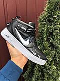 Кроссовки Найк Аир Форс мужские черно-белые демисезонные Nike Air Force чорні демісезонні найк аір, фото 2