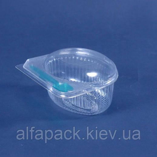 Пластиковый контейнер ПС-30  для упаковки мороженого со съёмной крышкой ПС-30К, упаковка
