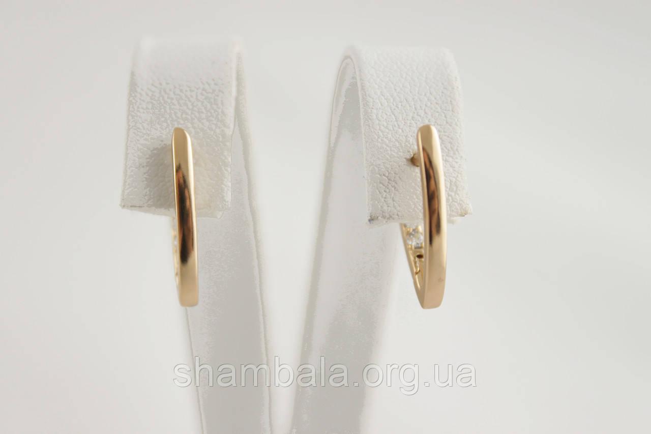Серьги Xuping Jewelry фианиты позолота (089805)