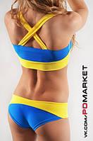 """Комплект топ + шорты """"Джанин UA"""" для занятий  фитнесом,exotic pole dance, pole dance."""