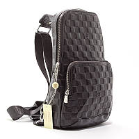 Сумка-рюкзак через плече, слінг екокожа чорний Louis Vuitton 41716