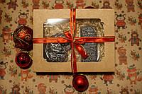 """Подарки для детей - Шоколадный подарочный набор """"Дед Мороз и открытка с Новым годом"""""""