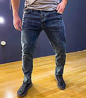 Джинсы мужские синие потертые Slim 31