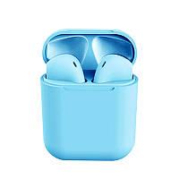Беспроводные сенсорные наушники i12 TWS Pods Blue, фото 1
