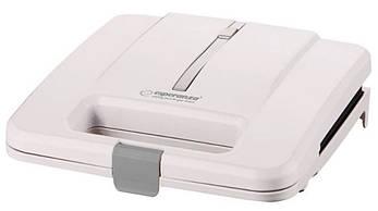 Электрическая бутербродница, сендвичница Esperanza EKT010W, 1000 Вт, антипригарное покрытие, белая
