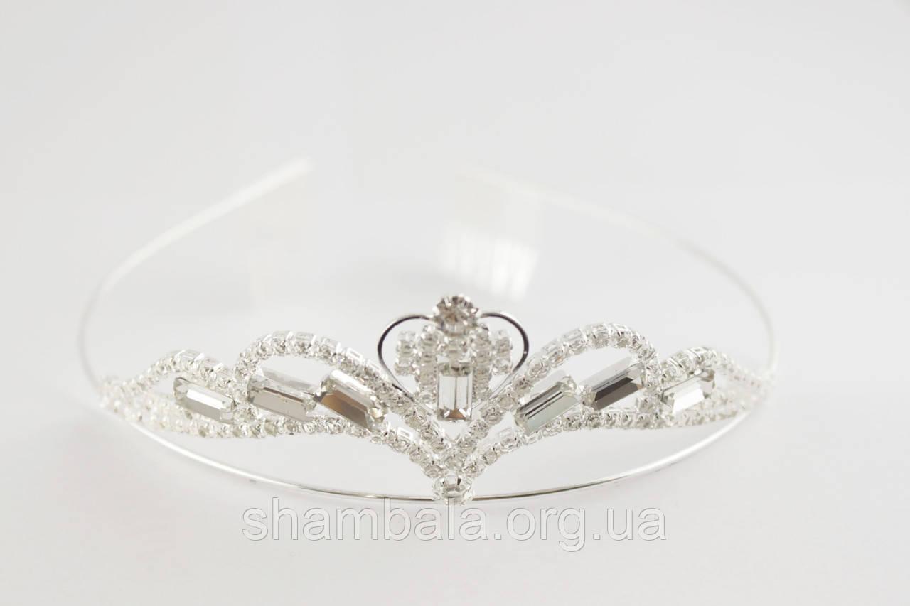 Диадема Diadema на обруче Серебристая (081656)