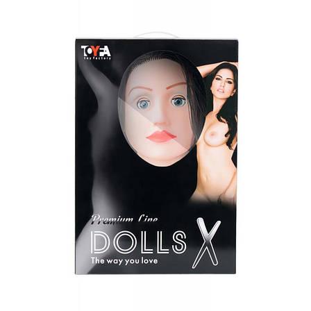 Надувная секс-кукла Kaylee Toyfa Dolls-X с реалистичной головой и волосами, брюнетка, фото 2