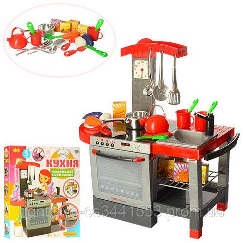 Кухня 011 (6шт) плита, духовка, мойка,60-58,5-31,5см,посуда,муз,свет,на бат-ке, в кор-ке, 60-54-10см