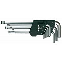 Набор инструментов Topex ключи шестигранные HEX 1.5-10 мм, набор 9 шт.*1 уп. (35D957)