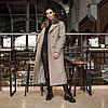 Трендовое удлиненное зимнее пальто Торонто мокко, фото 3