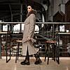 Трендовое удлиненное зимнее пальто Торонто мокко, фото 4