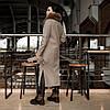 Трендовое удлиненное зимнее пальто Торонто мокко, фото 5